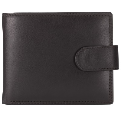 John Lewis Leather Tab Wallet, Brown