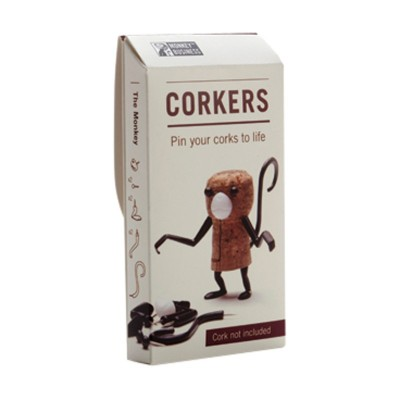Luckies Monkey Animal Corkers